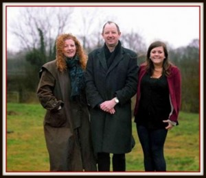 Frances, Laurence and Jessica (courtesy - South Wales Argus)
